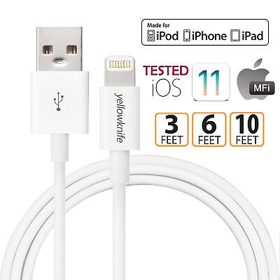 Cable For Iphone X 8/7/6 Plus/ 6s/5 10FT Extra Long Apple Certified USB Charger ()