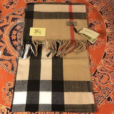 Burberry Cashmere Classic Check Camel Scarf ****BRAND NEW &FREE SHIPPING***