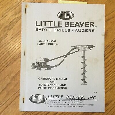 Little Beaver Earth Drills Augers Operation Maintenance Manual Guide Parts Book