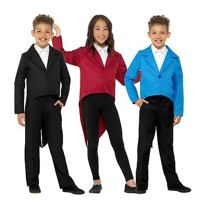 Kids Magician Circus Tailcoat Showman Ringmaster Jacket Book Week Fancy Dress (Ringmaster Costume Child)