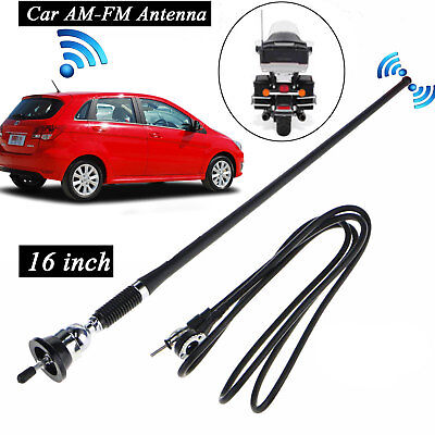 "16"" Universal Car Antenna Auto Roof Fender Radio AM FM Strong Signal Aerial USA"