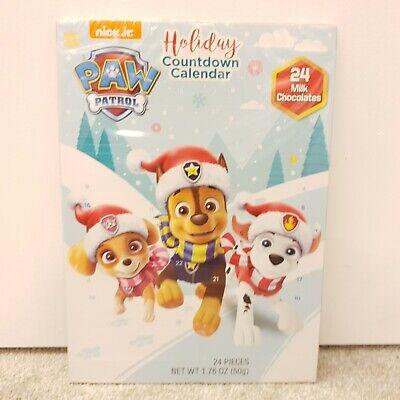Paw Patrol Chocolate Advent Calendar 24 Days Christmas Holiday Countdown SEALED
