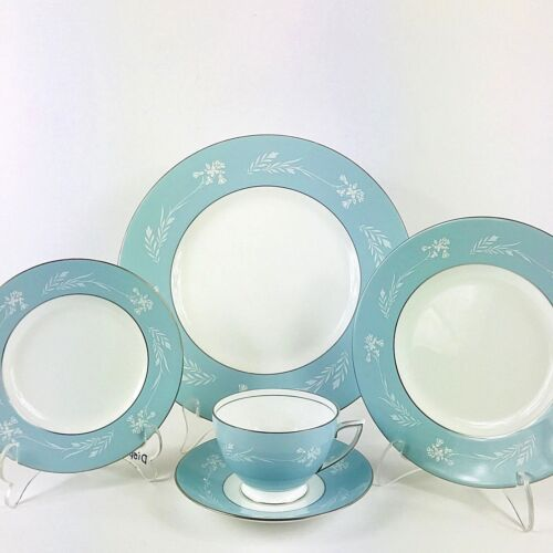 Minton Turquoise Cameo Bone China 5 Piece Place Setting -Very Rare - Read below