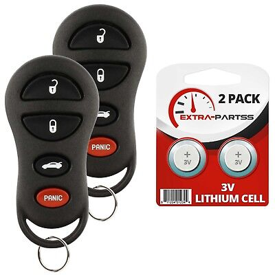 2 For 2002 2003 2004 Jeep Liberty Keyless Entry Key Car Remote Fob