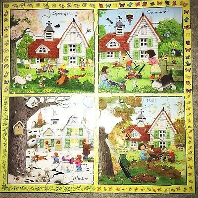 Usborne Farmyard Tales Four Seasons Jigsaw Puzzle 50 pieces Stephen Cartwright](50 Piece Puzzles)