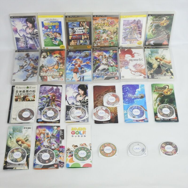 Lot of 12 PSP UMD PS Portable Sony Game 0301 psp