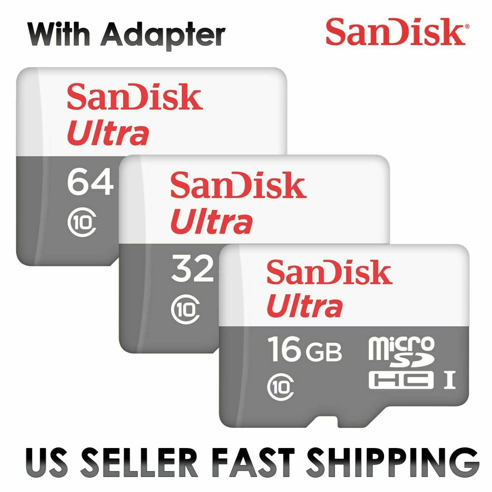 SanDisk Ultra 16GB 32GB 64GB 128GB Micro SD C10 SDHC Flash M