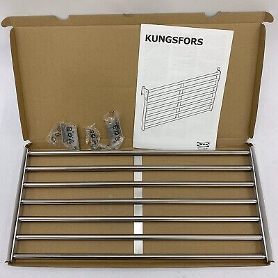 IKEA Kungsfors Wall Rack Stainless Steel 803.349.19
