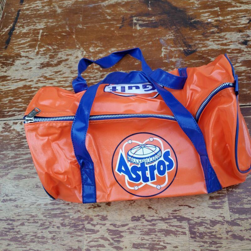 Vintage Houston Astros - Gulf Oil Vinyl Duffel Bag 1970s New condition Rare MLB
