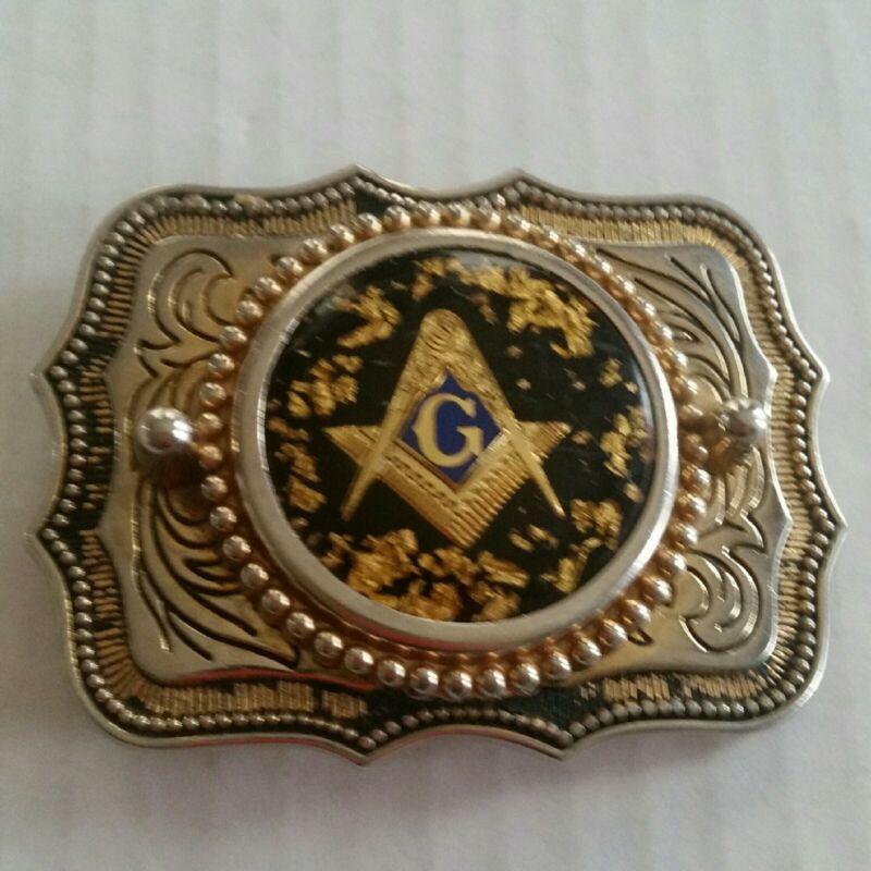Vintage Masonic Belt Buckle