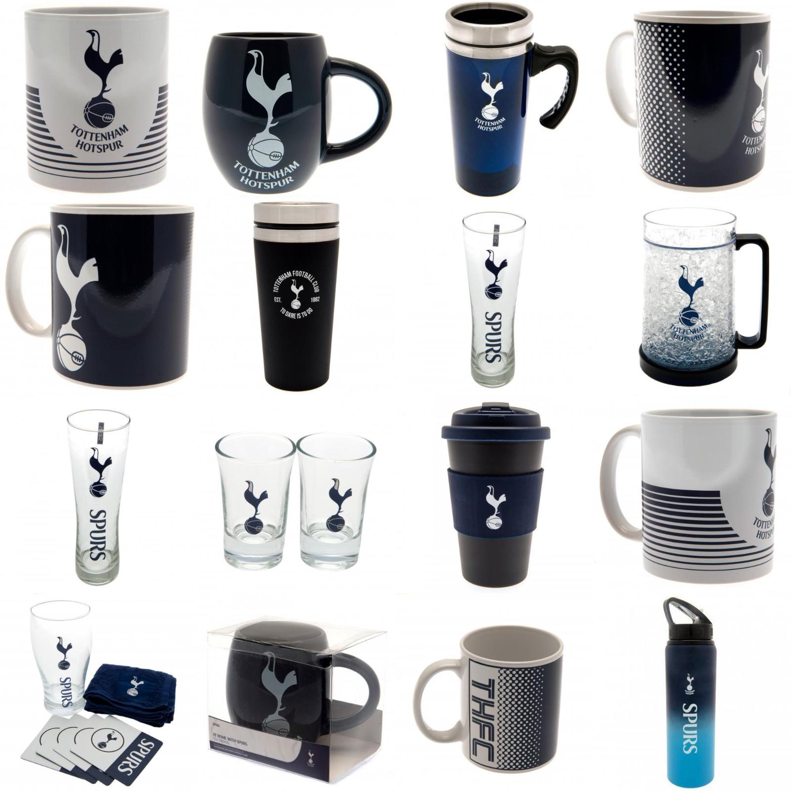 Tottenham Hotspur Spurs Merchandise Tea Coffee Cup Mug Glass Drinks Bottle Gift