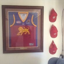 Brisbane Lions 2002 signed Jersey and Caps
