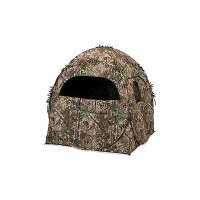 Ameristep 1RX2S010 Doghouse Spring Steel Ground Hunting Blind Realtree XTRA Camo