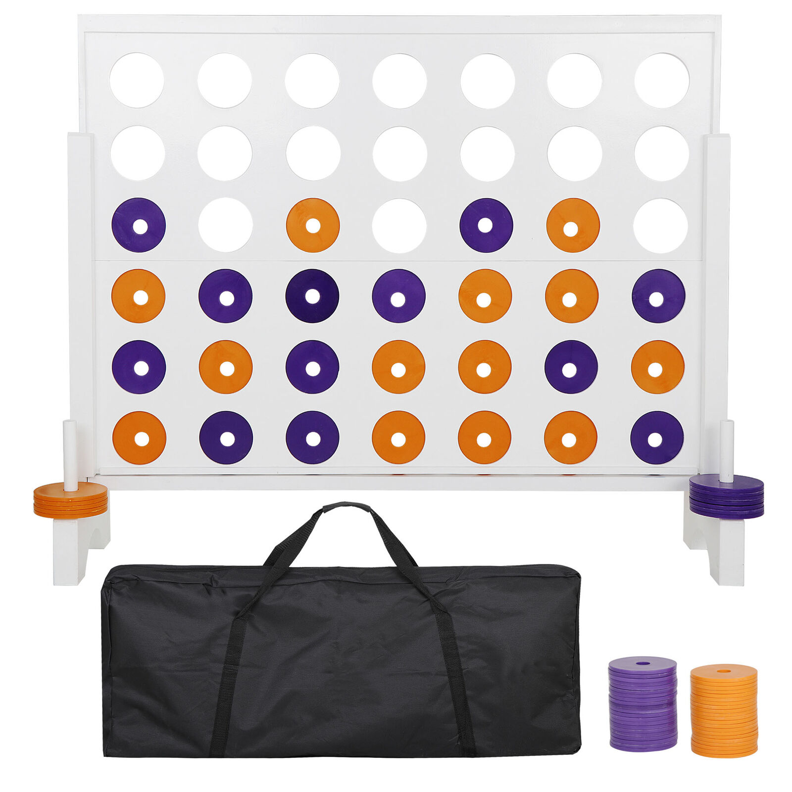 3′ Giant 4 in a Row Board Game For Adults Kids Family Yard Events Indoor Outdoor Board & Traditional Games
