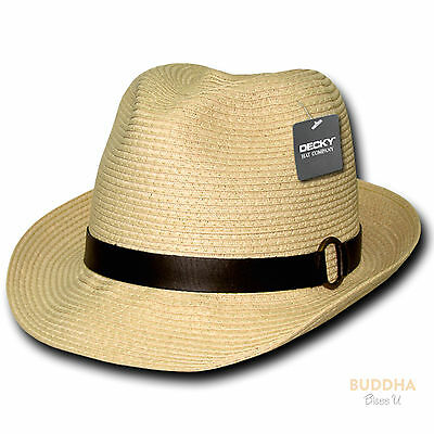 lechten Gewebt Fedora Fedoras Trilby Panama Hüte (Fedoras Hüte)
