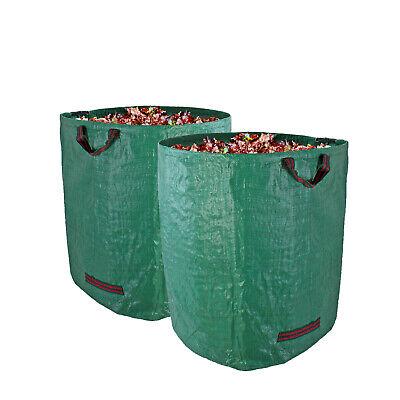 2x Gartenabfallsack XXL 272 Liter doppelte Nähte Gartensack Laubsack Rasensack