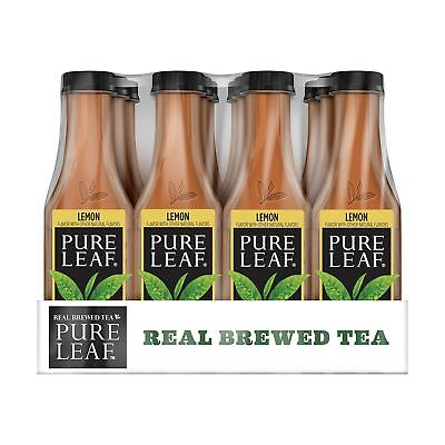 Pure Leaf Iced Tea, Lemon, Sweetened, Real Brewed Black Tea, 18.5 Ounce Bottles