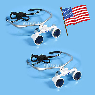 Usa 2 Dental 3.5x Magnifying Surgical Binocular Loupes Glasses For Surgery Use