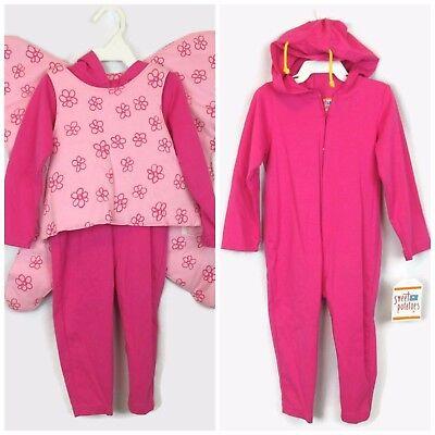 Butterfly Costume 2t (Pink Butterfly Halloween Costume Sweet Potatoes 2T Hoodie Romper Jumpsuit)