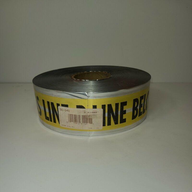 """Empire Level-31-141 Empire MAGNATEC Premium Detectable Tape, Gas Line 3""""x1000"""