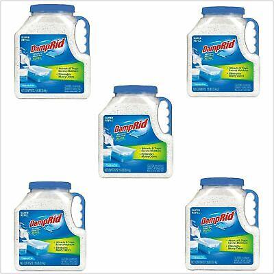 Damp Rid Moisture Absorber 7.5 lb (5 PACK) DampRid Refill Eliminates Odors Fresh ()