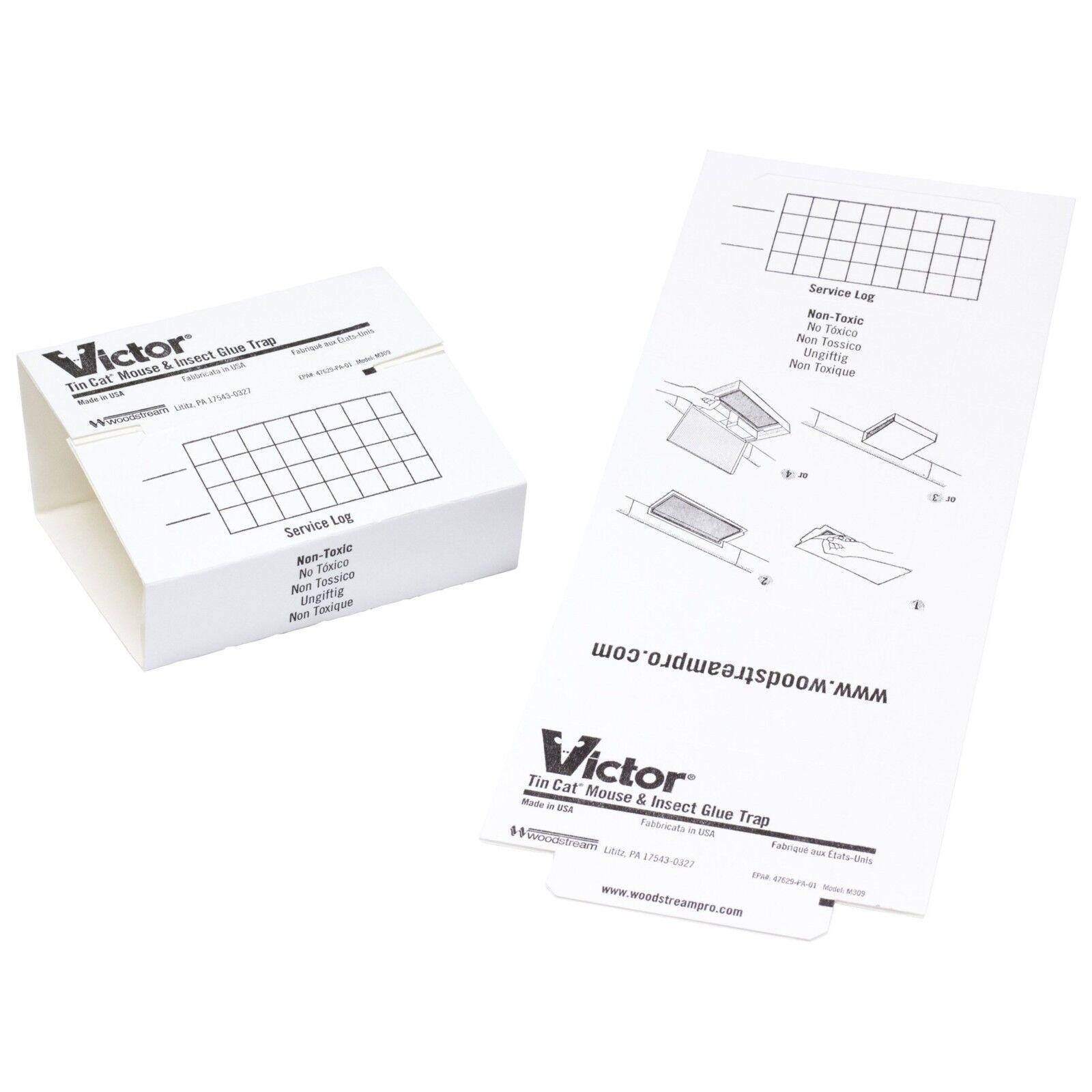 Victor Tin 72 Mouse Traps Glue Traps Sticky Trap Cat Mice Gl