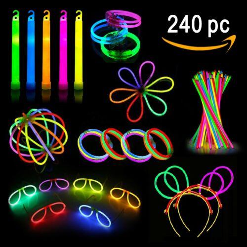 Glow Sticks Party Pack Necklaces, Bracelets, Glasses, Headbands, Balls, Flowers