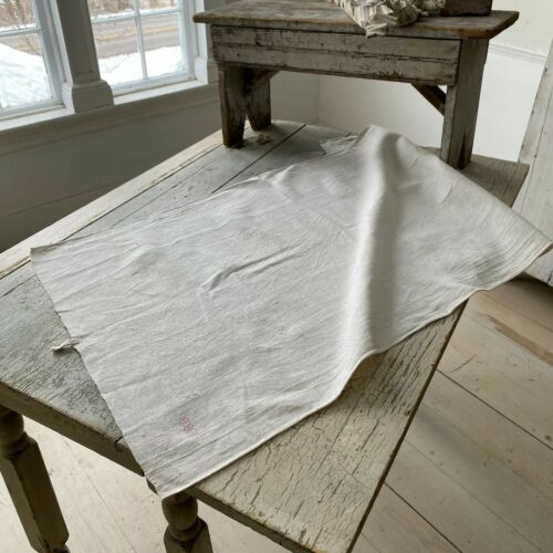Antique French linen dish towel IBB monogram hand kitchen towel 18th