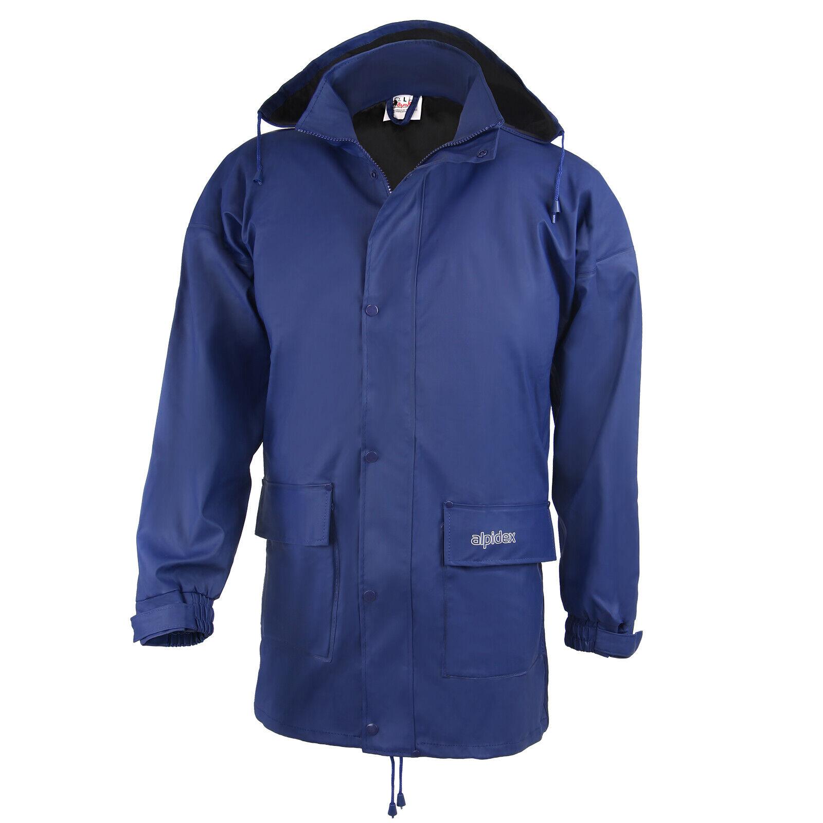 ALPIDEX Regenjacke Jacke mit Kapuze für Damen und Herren Größe S M L XL XXL 3XL