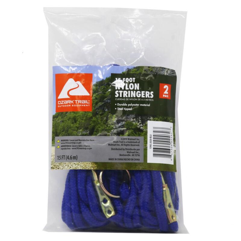Ozark Trail 15 – Foot Nylon Stringers 15′ – 2 Pack – Blue, Brand New!!
