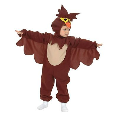 OWL ANIMAL BIRD JUMPSUIT WINGS HALLOWEEN - Age 2-3 - boys fancy dress costume