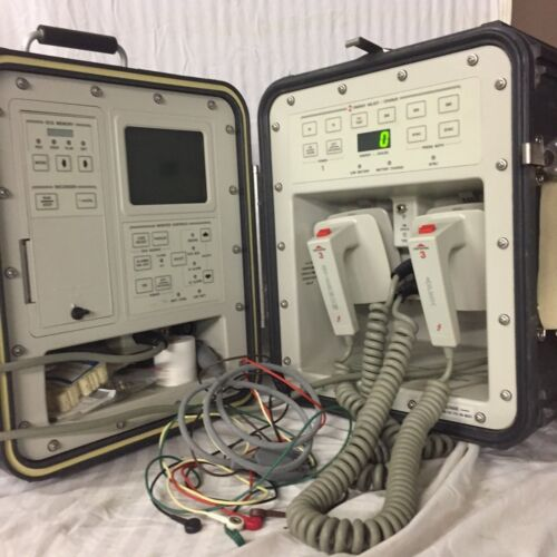 New HP 43130M Mobile Portable OTC Defib/Monitor-Recorder System - Military Grade