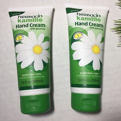 Herbacin Kamille Original Hand Cream Paraben Free 3.4 oz Travel Size Glycerine
