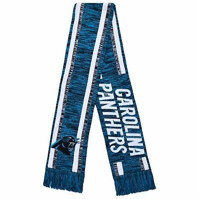 Carolina Panthers Scarf - Knit Color Blend - Winter Neck Double Sided Team Logo  - Carolina Panthers Scarf