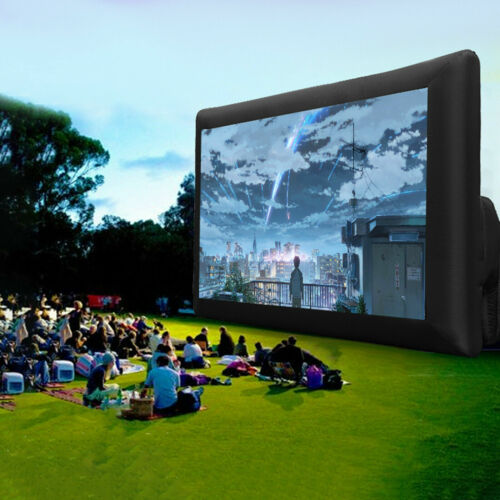 20FT Inflatable Projector Movie Screen Outdoor Premium Airblown Party w/ Blower⨤