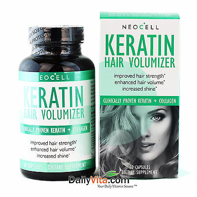 Neocell Keratin Hair Volumizer 60 Capsules   Hair Health Strength Made In Usa