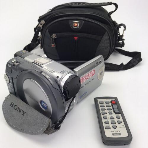 Sony HandyCam DCR-DVD301 Mini DVD Camcorder Carl Zeiss Lens DVD-R/RW W/ Remote - $29.95