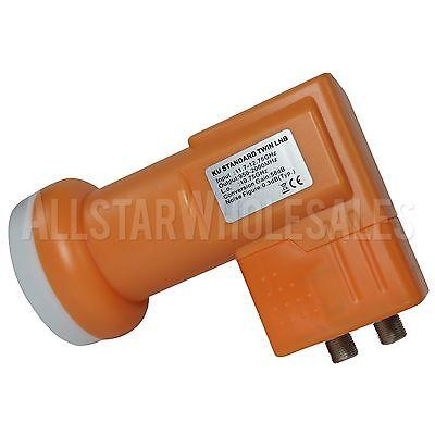 Standard KU Band Dual Twin Linear FTA Satellite Dish 10750 LNB 950-2000Mhz