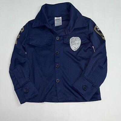Diy Boys Halloween Costume (Spirit Halloween Boys Police Man Cop Shirt Size 2T-4T DIY Costume Dress Up)