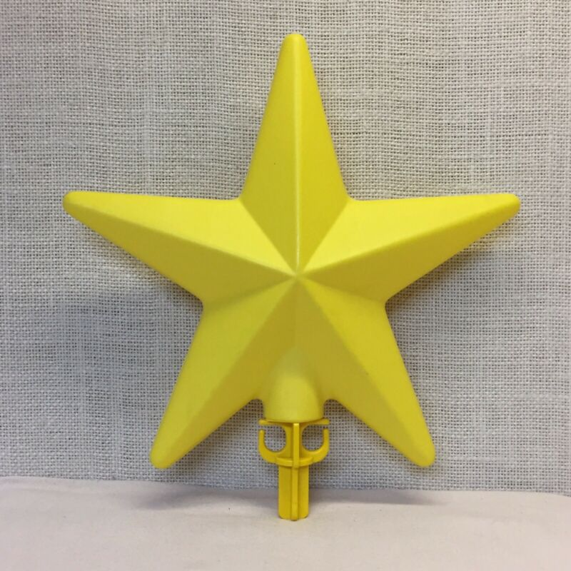 """Yellow Plastic Blow Mold Replacement Star 10.5"""""""