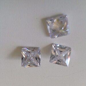 Princess Cut White Cubic Zircon Loose Stones Cz If Lots