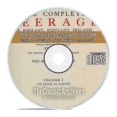 The Complete Peerage of England, Scotland, Ireland, Great Britain, UK DVD CD V84
