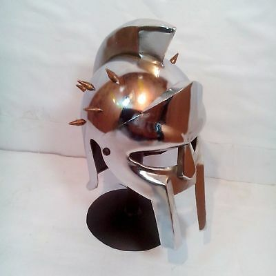 MAXIMUS GLADIATOR MINI HELMET MEDIEVAL ROMAN GREEK SPARTAN ARMOR ](Greek Spartan)