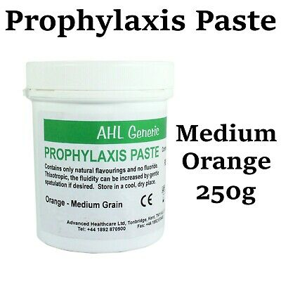 Dental Prophylaxis Prophy Paste Teeth For Polishing Stain Removal Medium Orange