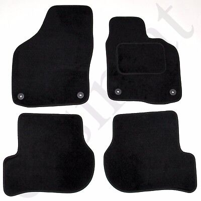 Car Parts - VW Golf Mk6 2008-2013 Fully Tailored Carpet Car Mats Black 4pcs Floor Mat Set