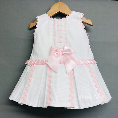 Girl Dress Sale (*SALE* Gorgeous Wee Me Baby Girl Spanish Drop Waist Dress with Bow Pink)