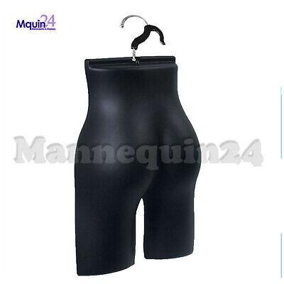 Female Butt Form Mannequin In Black Haning Hook - Plastic Women Dress Form