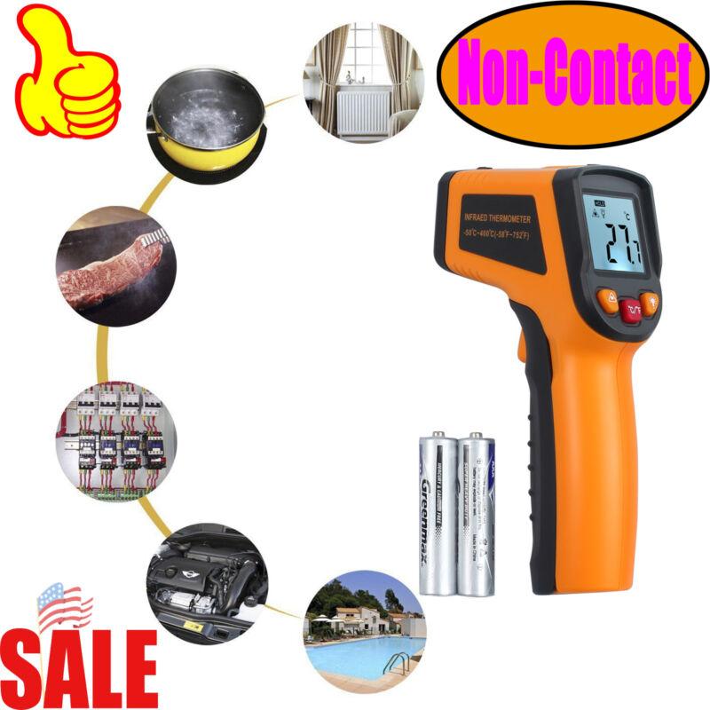 NonContact Infrared Laser Gun Digital TemperatureThermometer LCD Tester -50~400℃