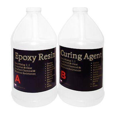 Crystal Clear Epoxy Resin General Purpose Bar Table Top Coating Wood - 1 Gal Kit