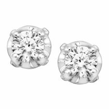 1/10 ct Diamond Stud Earrings in 10K White Gold